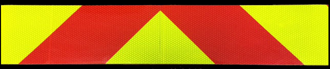 Fluorescent Lime and Red Striped Reflective Tape Kit