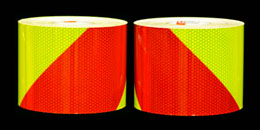 Red and Fluorescent Lime Fire Truck Tape