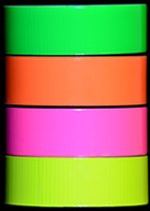 Fluorescent Green, Orange, Pink,and Yellow Duct Tape