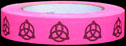 Triquetras on Fluor. Pink