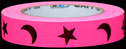 Stars and Moons on Fluor. Pink
