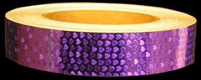 Purple Shimmer Hearts Tape