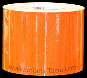 High Intensity Fluorescent Orange Reflective Tape