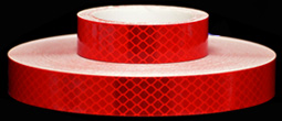 3M 973-72 Red Flexible Prismatic Reflective Tape, 1-inch