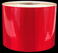 3M 973-72 Red Flexible Prismatic Reflective Tape, 6-inch